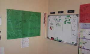 Physical Family Kanban Board for Weekends